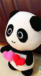 From Our Handmade Toy Range At Cotton and Silk Thailand, Our Baby Panda